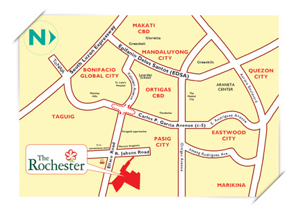 The Rochester location map